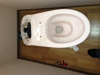 浜名郡雄踏町(浜松市)洋式トイレ脱着作業