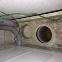 島田市阪本 一般住宅洗濯機排水管水漏れ修理