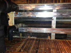 磐田市竜洋町 店舗排水管腐食水漏れ修理