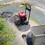 藤枝市泉町排水管高圧洗浄作業