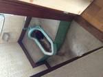 島田市大代 和式トイレ詰り修理