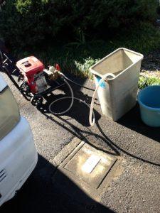 静岡市清水区折戸 高圧洗浄作業