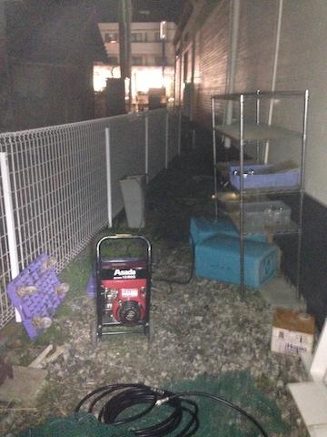 沼津市原 高圧洗浄作業
