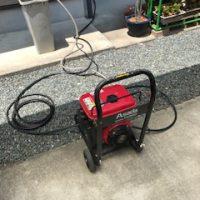 静岡市駿河区用宗 台所 排水管の高圧洗浄作業