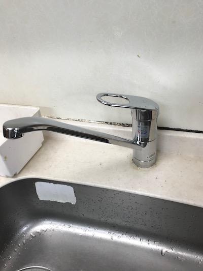 藤枝市 台所蛇口水漏れ修理