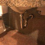 掛川市 トイレ手洗い排水水漏れ修理