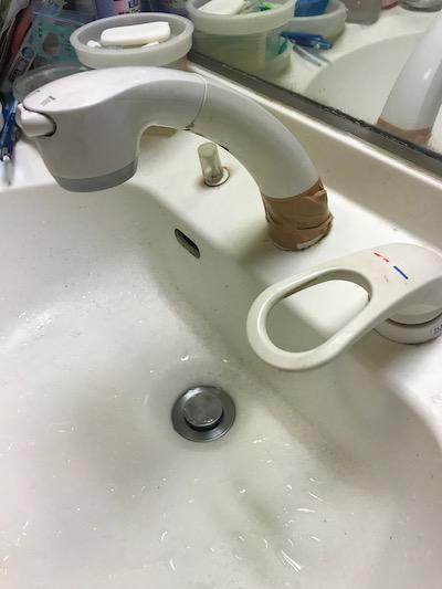静岡市 洗面所水漏れ修理