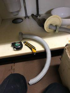 焼津市 台所排水水漏れ修理