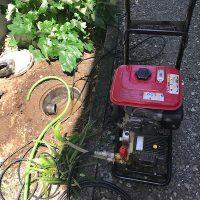 静岡市駿河区石田 台所排水高圧洗浄作業