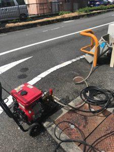 静岡市清水区 秋吉町 グリストラップ清掃作業