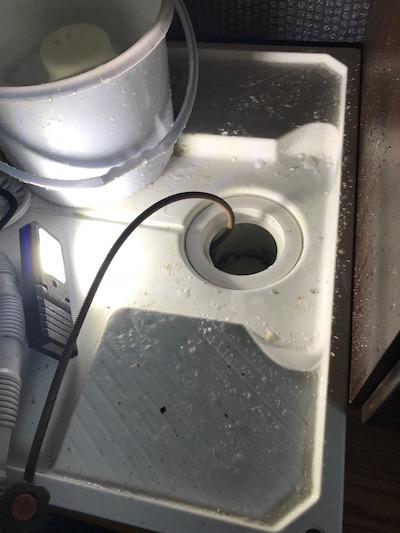 袋井市 洗濯場排水詰まり修理