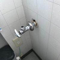 静岡市清水区西久保 トイレ止水栓交換作業