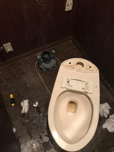 静岡市 洋式トイレ詰まり修理