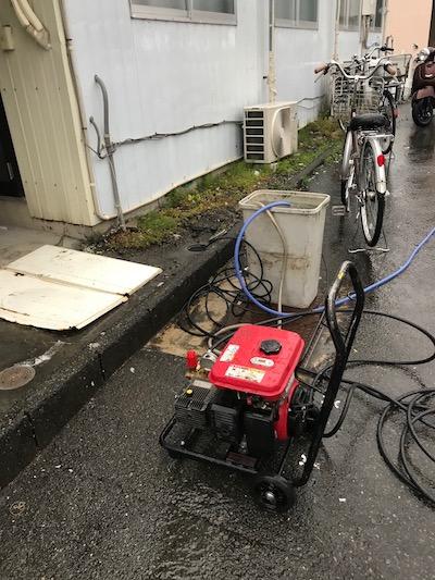 袋井市永楽町  高圧洗浄作業