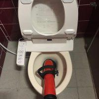 掛川市 店舗洋式トイレ詰まり修理