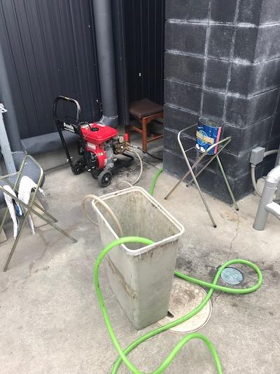 菊川市 店舗排水詰まり修理