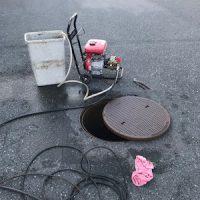 富士市荒田島 高圧洗浄作業