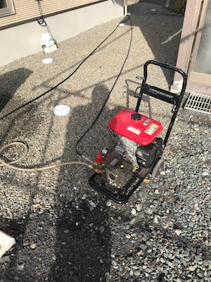 藤枝市築地上  高圧洗浄作業