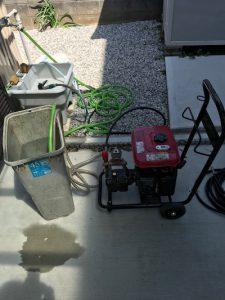 島田市金谷栄町 台所排水高圧洗浄作業