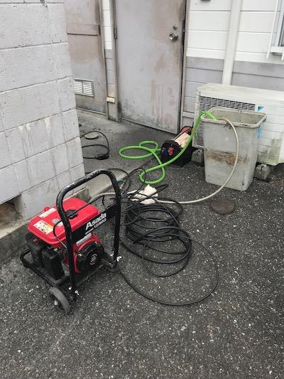 富士市厚原 店舗排水高圧洗浄作業