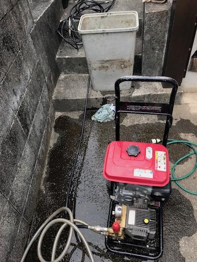 掛川市板沢 高圧洗浄作業