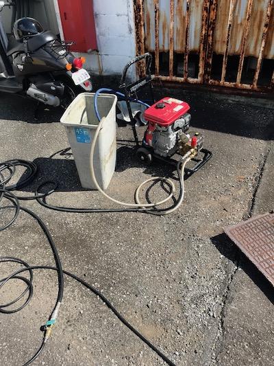 掛川市大池  店舗高圧洗浄作業