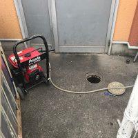 島田市井口 店舗高圧洗浄作業