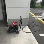 静岡市駿河区東新田 店舗高圧洗浄作業
