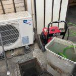 焼津市道原 台所排水高圧洗浄作業