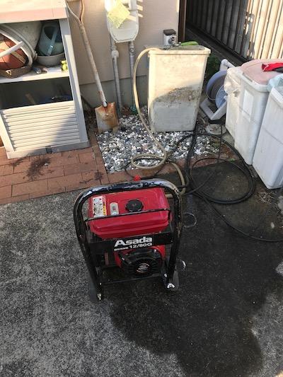 静岡市清水区梅ケ谷  台所排水高圧洗浄作業