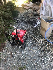 藤枝市内谷 高圧洗浄作業