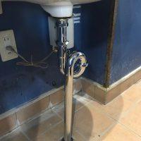 富士市 店舗排水管水漏れ修理