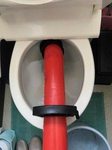 袋井市 洋式トイレ詰まり修理