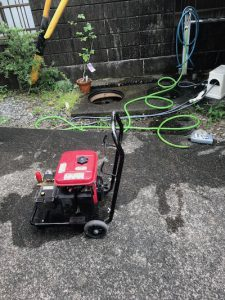 静岡市葵区水道町 高圧洗浄作業