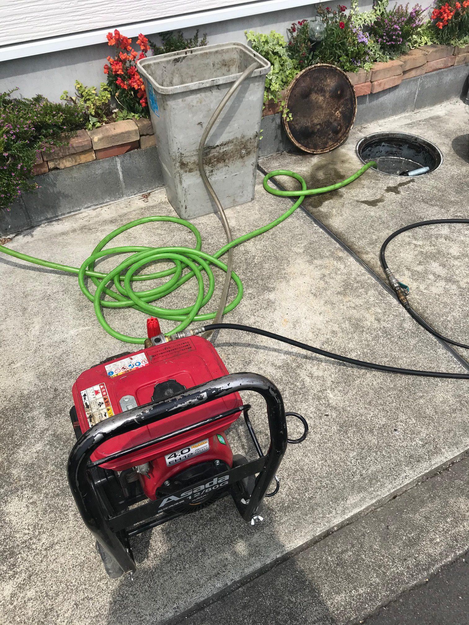 静岡市駿河区中田 高圧洗浄作業
