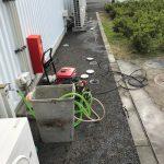 静岡市清水区追分 高圧洗浄作業
