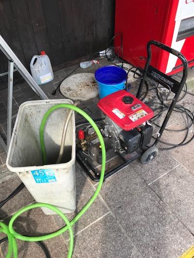 静岡市清水区愛染町  高圧洗浄作業