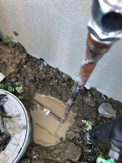 静岡市駿河区小鹿  屋外銅管一部補修工事