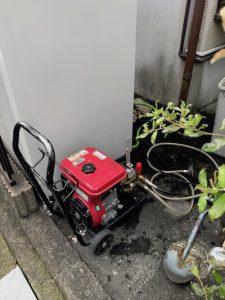 静岡市清水区秋吉町 高圧洗浄作業