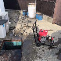 焼津市三ヶ名 高圧洗浄作業