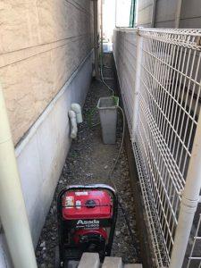 静岡市葵区沓谷 高圧洗浄作業