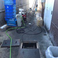 焼津市下江留 排水高圧洗浄作業