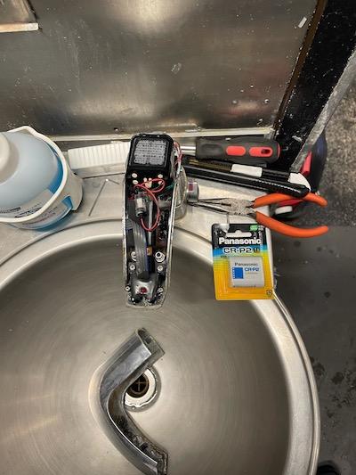 掛川市 手洗い自動水栓修理