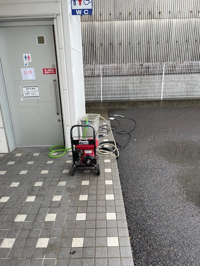 藤枝市田中 高圧洗浄作業