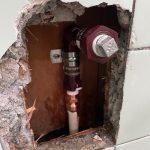 掛川市家代 給湯管一部補修