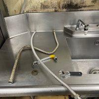 菊川市西方 給水管補修作業